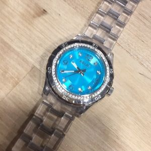 Relic turquoise face watch